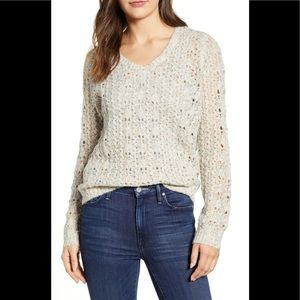 Caslon Brushed V-Neck Sweater
